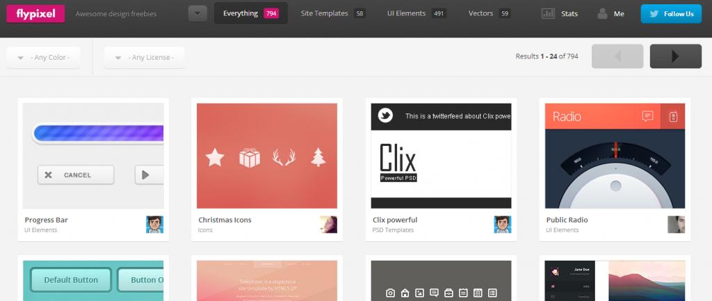 Elementos para diseño e interfaces | flypixel