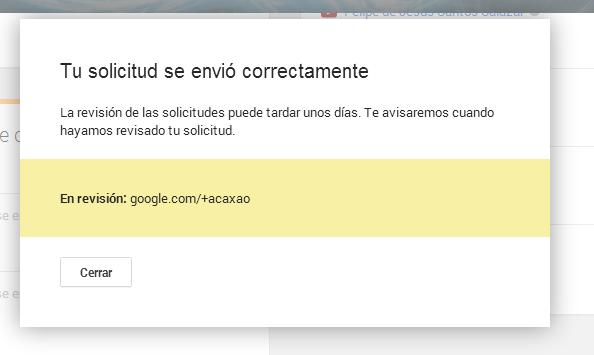 URL personalizada de GOOGLE